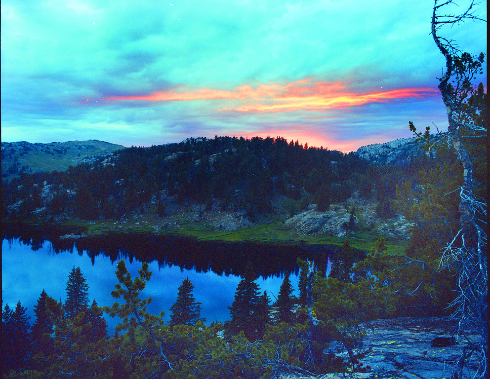 Sunset at Dean Lake high in the Wind River Range.  Bridger Teton Wilderness, WY<br /> <br /> © Kirk Sagers