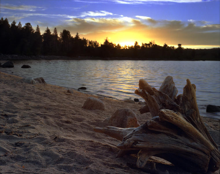 New Fork Lake at sunset, in the Wind River Range.  near Cora, WY<br /> <br /> © Kirk Sagers