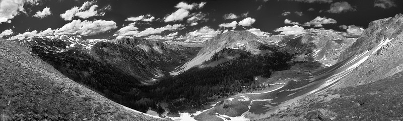 Panorama from atop Porcupine Pass, Wind River Range, WY