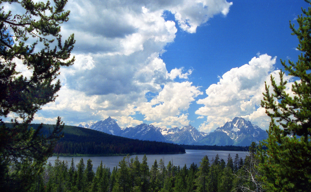 The Teton range as seen from across Emma Matilda Lake.  Grand Teton NP, WY<br /> <br /> © Kirk Sagers