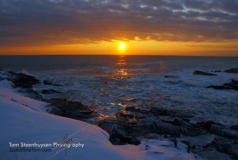 Sunrise in Portland, Maine