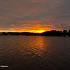 Sunrise over a small bay of Storsjön