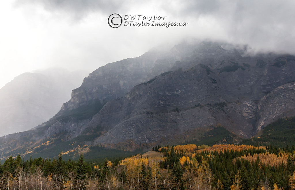 Storm over Mount Kidd in Kananaskis Country, Alberta, Canada