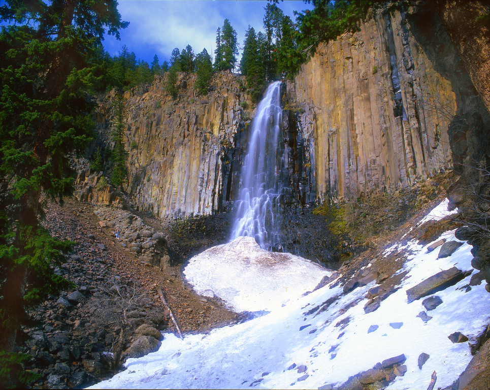 Palisade Falls in Hyalite Canyon in late spring.  near Bozeman, MT<br /> <br /> © Kirk Sagers