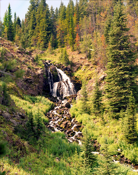 Unnamed Waterfall in the east fork of Hyalite Canyon.  near Bozeman, MT<br /> <br /> (I think I'll call it Bob.)<br /> <br /> © Kirk Sagers