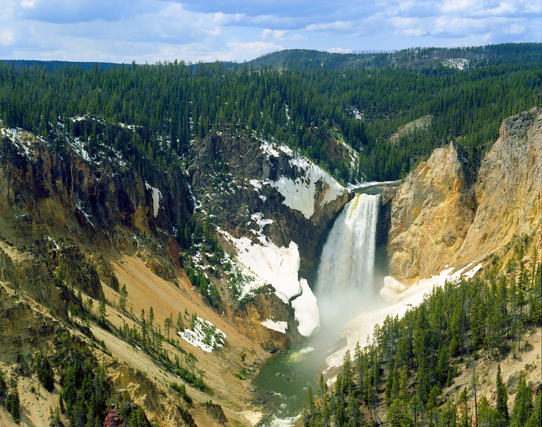 Lower Falls of the Yellowstone River in late spring.  Yellowstone NP, WY<br /> <br /> © Kirk Sagers