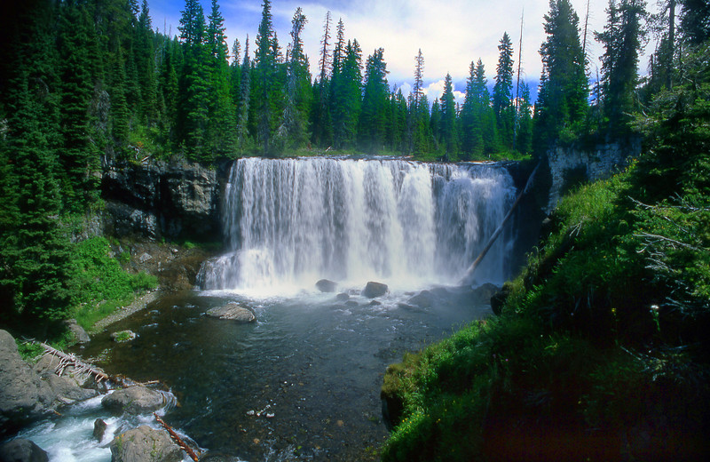 Iris Falls in Bechler Canyon, Yellowstone NP, WY<br /> <br /> © Kirk Sagers