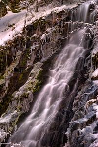 © Joseph W. Dougherty. All rights reserved.  Waterfall in winter; Sierra Nevada range; El Dorado County, CA.