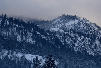 © Joseph Dougherty. All rights reserved.   Breaking snow storm over the Sierras.