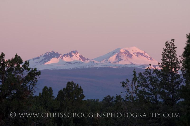 Three Sisters Mountains Oregon