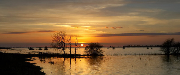 Sunset at the Ouse washes.