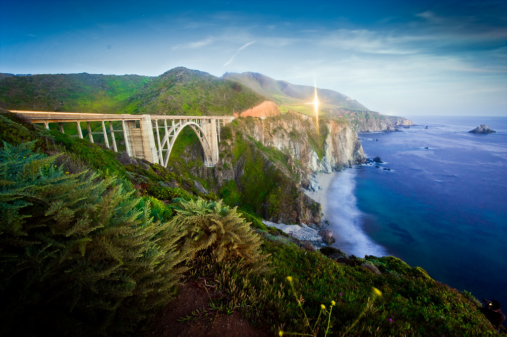 The Bigsby Bridge at the Big Sur.