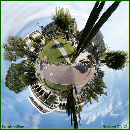 360° panorama (Circle Polyorama) of Cañada College Campus - 2013