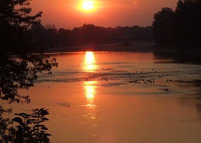 Sunset on the Wabash River Logansport, IN