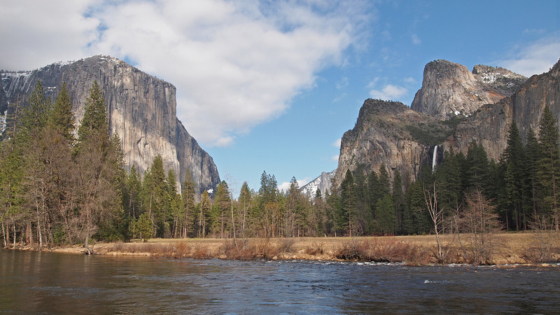 Valley View on the Merced River in Yosemite Valley - 10 Apr 2011