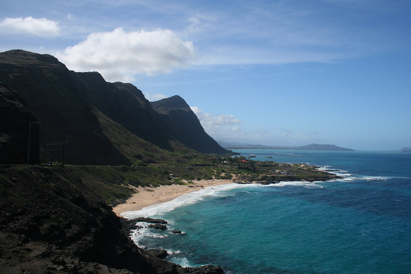 East coast of Oahu from the Kananiole Highway