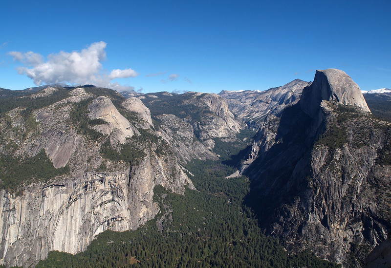 View of Royal Arches, North Dome and Half Dome from Glacier Point - 25 Oct 2010