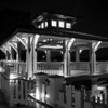 Boathouse at Night - Monochrome