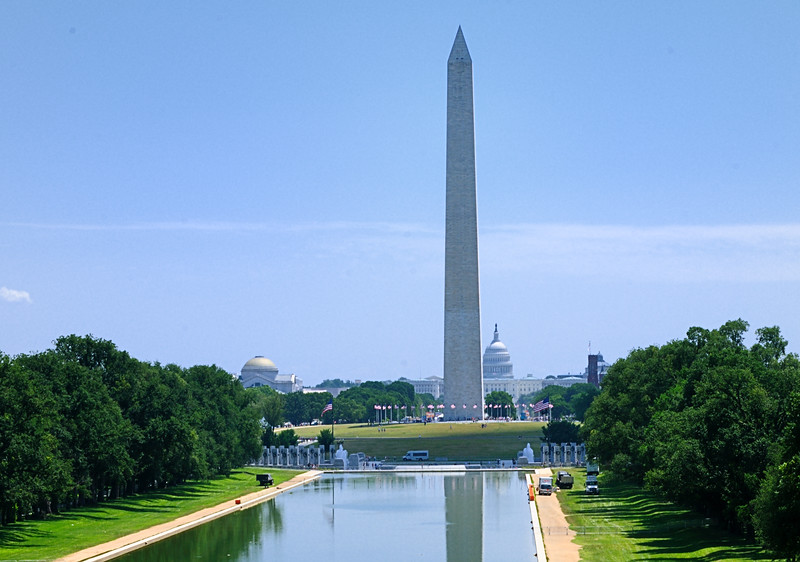 Washington Memorial with Capitol in background