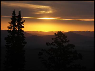 Sunrise over the valley, Jackson Hole, Wyoming.