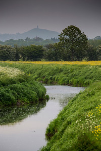 Glastonbury Tor from the Somerset levels.
