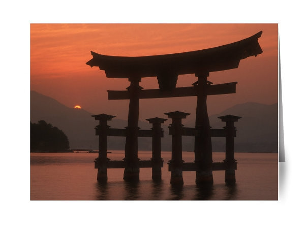 Japanese Itsukushima Shrine