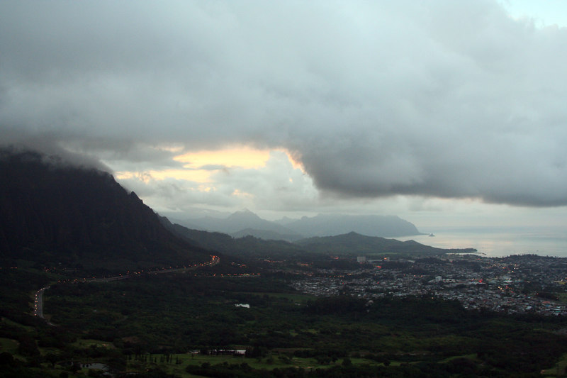 Windward Oahu from the Pali lookout