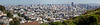 "Panorama of San Francisco from the Randall Museum / Corona Heights. (16""x4"")"