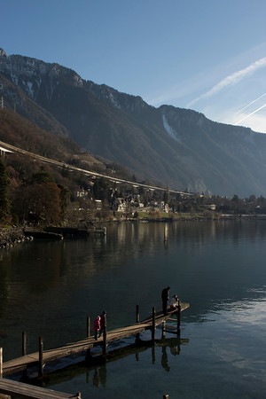 Switzerland, Chillon, Pier SNM