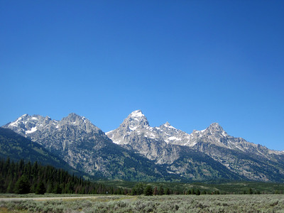 The Tetons, Jackson Hole, Wyoming.