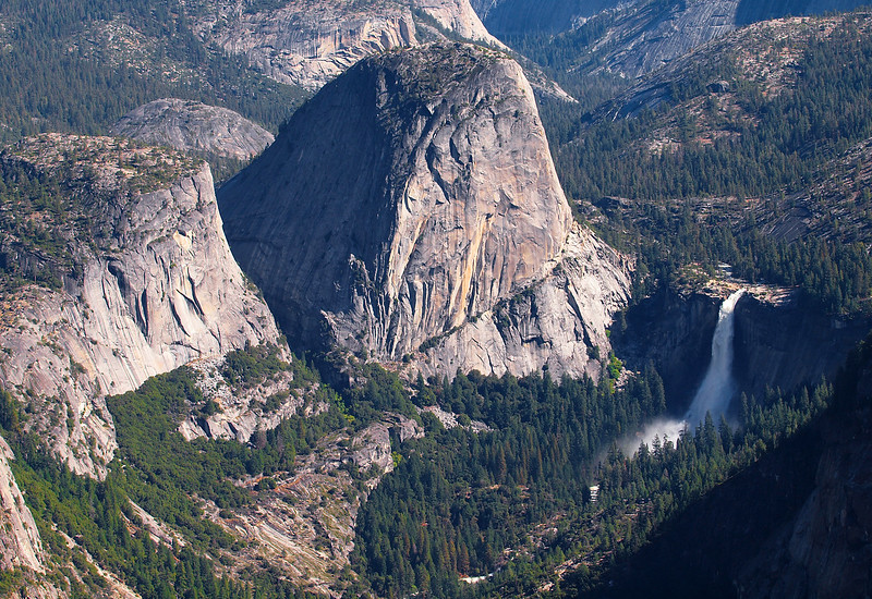 View of Mount Broderick, Liberty Cap and Nevada Falls from Washburn Point - 25 Oct 2010