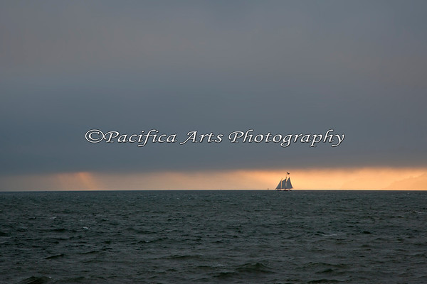 Sailing vessel - homeward bound. (San Francisco Bay)