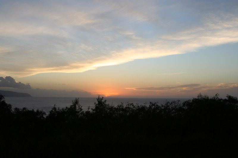 Sunset above Waimea Bay