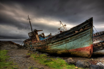 Old boats on the isle of Mull