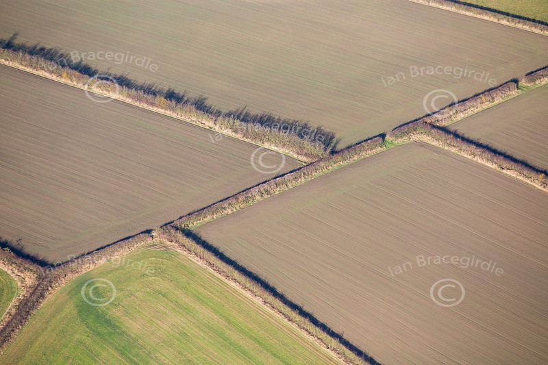 An aerial photo of a Derbyshire Landscape.
