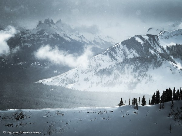Winter storm over 'The Castles'....Elk Mountains, CO
