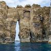 Ilheus da Madalena.<br /> Azores Keyhole.
