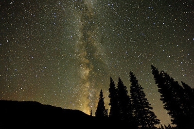 The western sky with the milky way in a beautiful Colorado sky...no light pollution here!