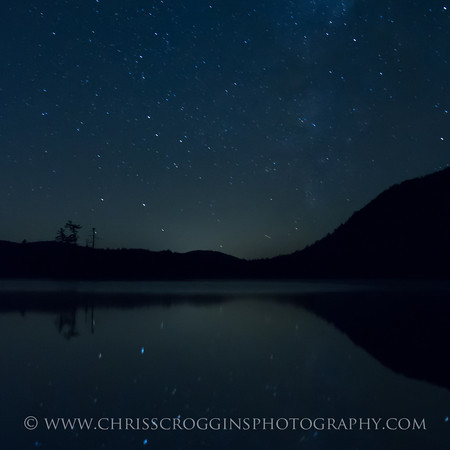 Moss Lake NY and the Milky Way  Sqr