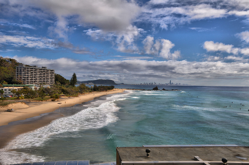 My first HDR photo, though must remember the tripod next time!<br /> Taken from Elephant Rock, Currumbin, Gold Coast. 2009