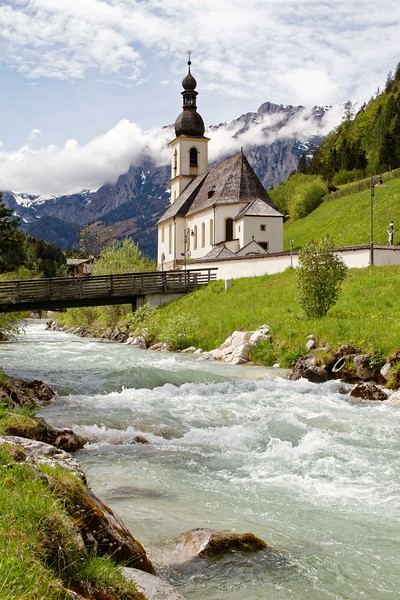 Church in Ramsau (Germany)