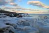 Ice covered Brighton Beach- Lake Superior