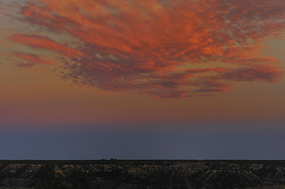 Sunset over Palo Duro Canyon.
