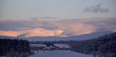 Cairngorms from just outside Aviemore