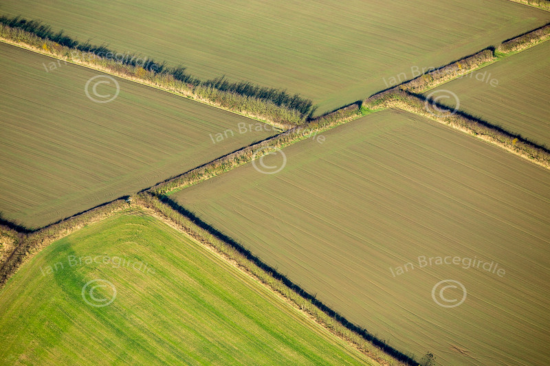 Aerial photo of rural Derbyshire.