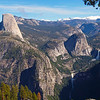 View of Half Dome, Mount Broderick, Liberty Cap, Nevada and Vernal Falls from Washburn Point - 25 Oct 2010