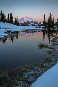"""First Light"" -Mt. Rainier"