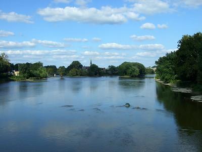 Eel River and Wabash River converge. Logansport, IN