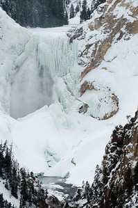 Lower Falls of the Yellowstone, February, 2010