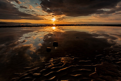 Sunset at Kilve beach, Somerset.